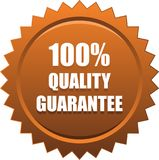 Quality quarantee seal stamp bronze. Vector illustration isolated on white background - quality guarantee seal stamp braonze brown Stock Photo