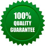 Quality quarantee seal stamp green. Vector illustration isolated on white background - quality guarantee seal stamp green Royalty Free Stock Image