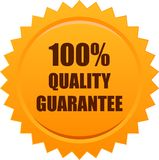 Quality quarantee seal stamp orange. Vector illustration isolated on white background - quality guarantee seal stamp orange Royalty Free Stock Images