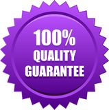 Quality quarantee seal stamp violet. Vector illustration isolated on white background - quality guarantee seal stamp violet Royalty Free Stock Photo