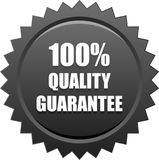 Quality quarantee seal stamp black. Vector illustration isolated on white background - quality quarantee seal stamp black Royalty Free Illustration