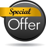 Special offer web button icon. Vector illustration isolated on white background - Special offer web button icon Stock Images