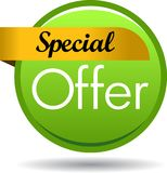 Special offer web button icon. Vector illustration isolated on white background - Special offer web button icon Stock Image