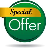 Special offer web button icon. Vector illustration isolated on white background - Special offer web button icon Royalty Free Stock Photography