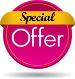 Special offer web button icon. Vector illustration isolated on white background - Special offer web button icon Stock Photos