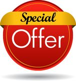 Special offer web button icon. Vector illustration isolated on white background - Special offer web button icon Royalty Free Stock Photo