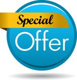 Special offer web button icon. Vector illustration isolated on white background - Special offer web button icon Royalty Free Stock Photos