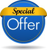 Special offer web button icon. Vector illustration isolated on white background - Special offer web button icon Stock Photo