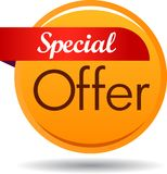 Special offer web button icon. Vector illustration isolated on white background - Special offer web button icon Royalty Free Stock Images