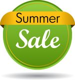 Summer sale web button. Vector illustration isolated on white background - summer sale web button icon Royalty Free Stock Photo