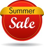 Summer sale web button. Vector illustration isolated on white background - summer sale web button icon Royalty Free Stock Image