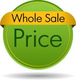 Whole sale price royalty free stock photography