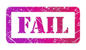 Vector illustration isolated of the word Fail in color ink stamp royalty free illustration
