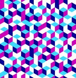 Cubes seamless pattern. Vector illustration of isometric cubes seamless pattern stock illustration