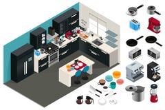 Isometric Kitchen Appliances Illustration Stock Image