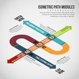 Isometric Path Modules Infographic Stock Images