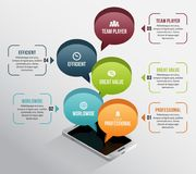 Isometric Phone Talk Infographic Royalty Free Stock Photo