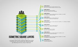 Isometric Square Layers Infographic Royalty Free Stock Photos