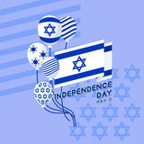 Vector illustration of Israel independence Day. Flag and balloon Royalty Free Stock Images