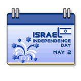 Vector illustration of Israel independence Day. Royalty Free Stock Photography