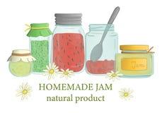 Vector illustration of jam jars vector illustration