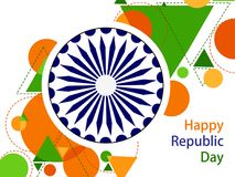 26 January Happy Republic Day of India background. Vector illustration of 26 January Happy Republic Day of India background Royalty Free Stock Photos