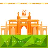 26 January Happy Republic Day of India background. Vector illustration of 26 January Happy Republic Day of India background Stock Image