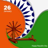 26 January Happy Republic Day of India background. Vector illustration of 26 January Happy Republic Day of India background Stock Photography