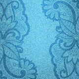 Vector jeans background. Vector illustration jeans background with floral pattern Royalty Free Stock Images