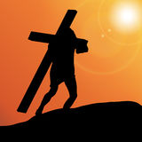 Vector illustration of Jesus. Stock Images