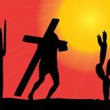 Vector illustration of Jesus. Royalty Free Stock Photos