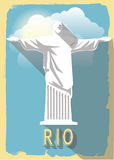 Vector illustration jesus statue of rio de janeiro Royalty Free Stock Photography