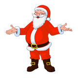 Vector Illustration of jolly plump Santa Claus with divorced hands Stock Images
