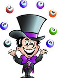 Vector illustration of an Juggling Bingo Man Royalty Free Stock Images