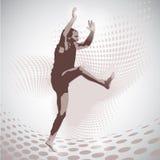 Vector Illustration of jumping man Royalty Free Stock Photography
