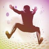 Vector Illustration of jumping man Stock Image