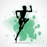 Vector Illustration of jumping man Royalty Free Stock Images