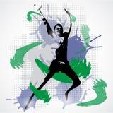 Vector Illustration of jumping man Royalty Free Stock Photos