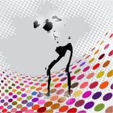 Vector Illustration of jumping man Royalty Free Stock Photo