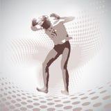 Vector Illustration of jumping man Stock Photo