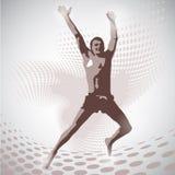 Vector Illustration of jumping man Royalty Free Stock Image