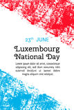 Vector illustration for 23 june Luxembourg day in grunge style. Design template for poster, banner,flayer,greeting, invitation car Stock Photo