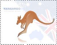 Vector illustration of Kangaroo Stock Image