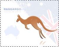 Vector illustration of Kangaroo Stock Photo