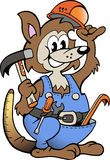 Vector illustration of an Kangaroo Handyman. Hand-drawn Vector illustration of an Kangaroo Handyman Stock Photo