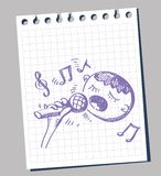 Vector illustration Karaoke Royalty Free Stock Image