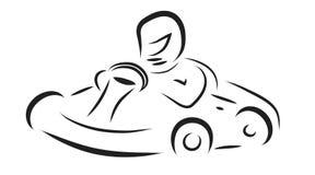 Vector illustration of kart. Vector illustration of kart on white background Royalty Free Stock Photography
