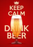 Vector Illustration Keep Calm And Drink Beer Royalty Free Stock Image