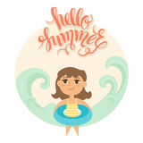 Vector illustration of kid Royalty Free Stock Image