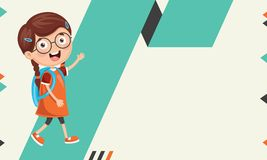 Vector Illustration Of Kids Abstract Background. Eps 10 stock illustration